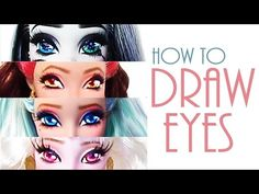 New ideas for doll repaint tutorial eye monster high Custom Monster High Dolls, Monster High Repaint, Custom Dolls, Doll Repaint Tutorial, Doll Tutorial, Eye Painting, Doll Painting, Doll Face Paint, Makeup Face Charts