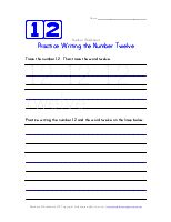 Practice Writing the Number Two | Number Worksheets | Kids Learning Station
