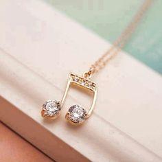 Stylish Eve - The One Magazine That Suits All Women Music Jewelry, Cute Jewelry, Gold Jewelry, Jewelry Accessories, Fashion Accessories, Jewelry Design, Fashion Jewelry, Jewlery, Music Note Necklace