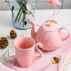 Pink Flamingo Tea Coffee Pot Ceramic 800 ml Bird Mug Cup Happy Diwali Gift, Diwali Gifts, Sweet Box, Coffee Set, Online Gifts, Pink Flamingos, Mug Cup, Tea Pots, Ceramics