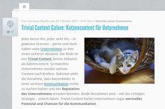 Trivial Content bietet Unternehmen enormes Potenzial - und besteht aus weit mehr als Katzenbildern. Quelle: http://karrierebibel.de/trivial-content-galore-katzencontent-fuer-unternehmen/
