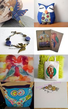 Bird lovers by Tab Thurstans on Etsy--Pinned with TreasuryPin.com