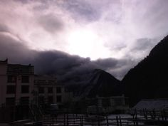 Morning view of the Mountain