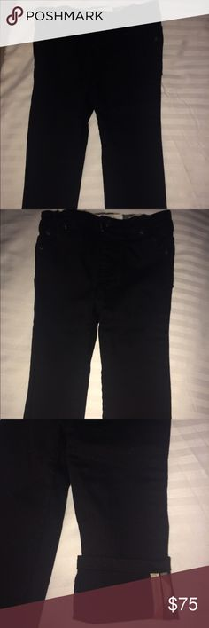 Burberry Langston Jeans Infant Langston black Burberry kids jeans. It's a classic 5 pocket jeans in essential black with a ton of embroiderer logo at one pocket. This has been worn once for 1st birthday photo shoot and in excellent condition. Burberry Bottoms Jeans