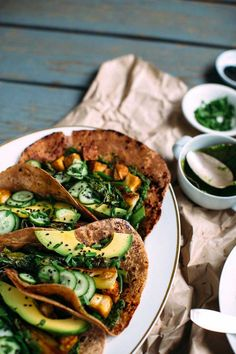 Funky Green Tacos Plant-based, vegan, vegetarian, and gluten-free recipes