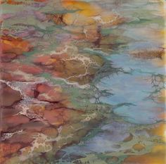 "Encaustic art portfolio of Alicia Tormey ""Mineral"""