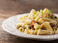 Pasta with Buttered Sour Cream and Bacon. Seconds please.  :)