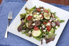 grilled vegetable salad with balsamic dressing