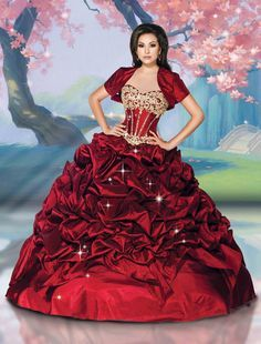 Princess Mulan inspired gown from Disney Royal Ball Style Number 41075 coming soon to Dresses By Russo. #dressesbyrusso #quinceanera #dress #disneyroyalball