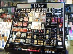 Dior counter at Central Pharmacy, Cardiff