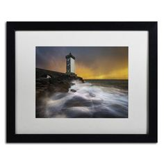 """Trademark Art """"Light of the Year in Brittany"""" by Mathieu Rivrin Framed Photographic Print Size: 1"""