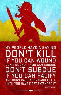 Wonder Woman quote. Diana Prince. Amazon. Justice League. DC Comics