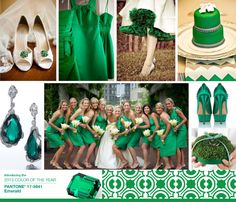 Emerald green! I love this color