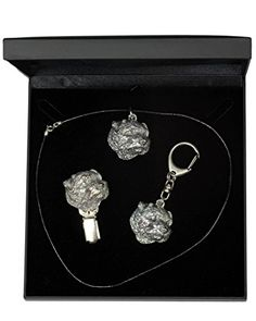 NEW, Norfolk Terrier, dog keyring, necklace and clipring in casket, DELUXE set, limited edition, ArtDog >>> Read more reviews of the product by visiting the link on the image.