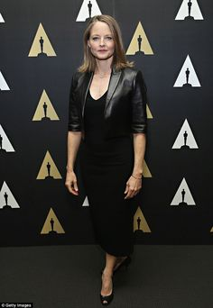 Breaking from character: Jodie Foster looked a far cry from her buttoned down student at the FBI academy, Clarice Starling, as she attended the 25th anniversary celebration of The Silence Of The Lambs at The Academy Museum in New York