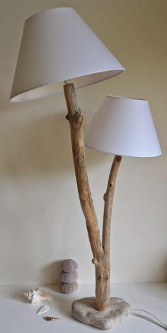 la petite verrière: Créer des lampes en bois flotté.