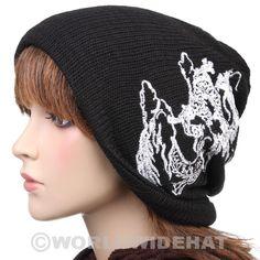 World Wide Hats. Dragon Baggy Style Beanie Winter Hat Cap Unisex Black be790d