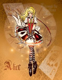 This is the leading character in my re-imaging of Alice in Wonderland and Through the Looking Glass, which is of course, Alice. I didn't have a lot of time to do this because I was submitting this ...