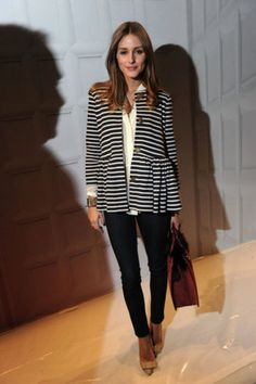 Stripe jacket and jeans
