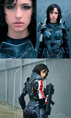 Geeky Girl Uses Foam to Build Amazing Mass Effect Female Shepard Costume - I'd probably use foam too. Great Cosplay!