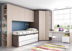 resultado de imagen para camas altas con armario debajo dormitorios infantiles pinterest kids rooms small rooms and lofts