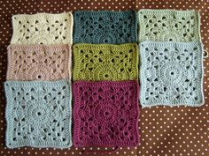Link to free crochet afghan or dishcloth square pattern.