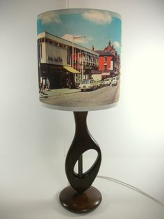 "Vintage 1960s Highstreet Postcard Fine Art Archival Paper Handmade Lampshade 8"" | eBay"