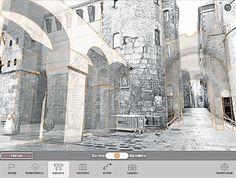 """Reconstrucción virtual del acueducto romano de Barcino (del app """"Barcino 3D"""")"""