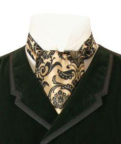 Penworth Ascot - Gold Large Men Fashion, Mens Fashion, Fashion Outfits, Gentleman Fashion, Gentleman Style, Mens Ascot, Cravat Tie, Historical Emporium, Period Outfit