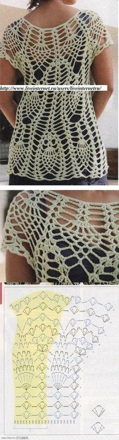 szydełko / bluzeczka / sweterek