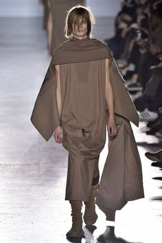 """PARIS, FRANCE - JANUARY 22: A model walks the runway during the Rick Owens Menswear Fall/Winter 2015-2016 The future of man's fashion is """"Holy"""""""