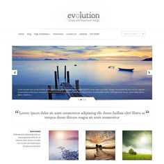 Evolution is a great choice for business and portfolio website. This is a premium wordpress theme from Elegant Themes. Evolution theme impressed with the large slider and menu system and features portfolio. In the collection of wordpress themes for business and portfolio, the Evolution theme is considered perfect, it will help you create a web page quickly but very professional.