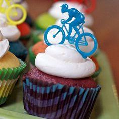 Bicycle cupcake toppers #bicyclecupcake #bicycle #foodart
