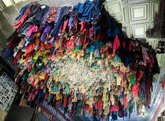Recycled clothing art by Guerra De La Paz