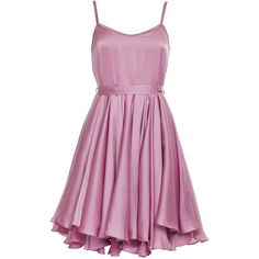 Whipped Dress Silky Satin Pink ❤ liked on Polyvore