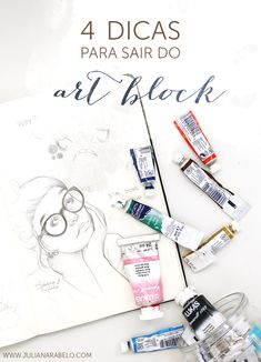 juliana rabelo | illustration: 4 dicas para sair do art block