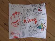 Kittys drawings/photoshop/digitally printed cushion