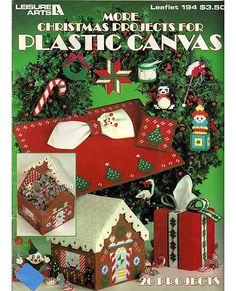 More Christmas Projects For Plastic Canvas Pattern Book Leisure Arts 194.