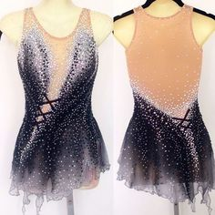 2018 Ice Figure Skating Dress  Baton Twirling skating Competition dress  xx239 #Unbranded