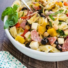 Italian Chopped Pasta Salad is everything you love about chopped salad but with CARBS!