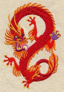 Embroidery Designs at Urban Threads - Korean Dragon