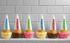 Ice Cream Heads, a shampoo and conditioner line for kids featuring a subtle scent of vanilla, chocolate or strawberry! I want these for me!