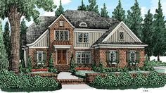 Home Plan HOMEPW77506 - 2413 Square Foot, 4 Bedroom 3 Bathroom + English Cottage Home with 2 Garage Bays | Homeplans.com