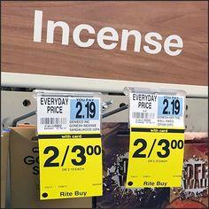 Incense Stick Bib Tag Twofer Merchandising – Fixtures Close Up Incense Sticks, Tags, Mailing Labels