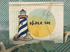 Ink blended lighthouse background.