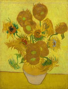 Vase with Fifteen Sunflowers, Vincent van Gogh, 1888.  Intercepted by Gravitation