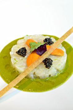 Sea Bream Tartare Marinated in Yuzu Jus,Sea Urchin and Aquitaine Caviar @ La Saison by Jacques Barnachon