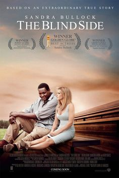 'The Blind Side'... amazing, uplifting and inspiring. Superb performance by Sandra Bullock. A terrific story.  Usually, when the credits start to roll at the end of a movie, people start to make their way out of the theatre, but at the end of this film, no one got up. We all just sat there, collecting our thoughts.