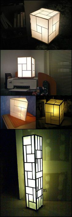 Learn how to make your own Japanese style lamp  craft.ideas2live4...  These lamps are great for providing soft lighting. They're also good for bedtime reading or adult pillow-talk :).   Why buy costly Japanese lamps when you can DIY? Achieve the same look using only common and inexpensive craft materials!
