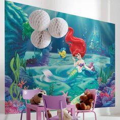 Disney Princess Ariel Wallpaper - Great Kidsbedrooms Ltd Disney Princess Bedroom, Disney Princess Toys, Ariel Wallpaper, Kids Wallpaper, Doritos, Bbg, Harry Potter, The Little Mermaid, Playroom
